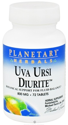 DROPPED: Planetary Herbals - Uva Ursi Diurite 800 mg. - 72 Tablets CLEARANCE PRICED