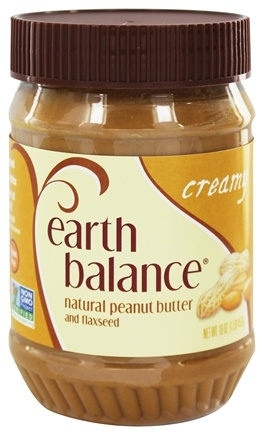 Earth Balance - Natural Peanut Butter and Flaxseed Creamy - 16 oz.