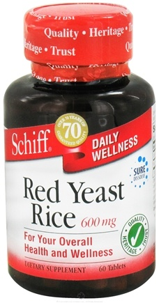 DROPPED: Schiff - Red Yeast Rice 600 mg. - 60 Tablets