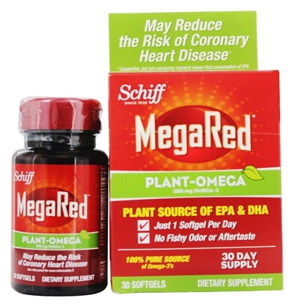 DROPPED: Schiff - Mega Red Plant-Omega 300 mg. - 30 Softgels