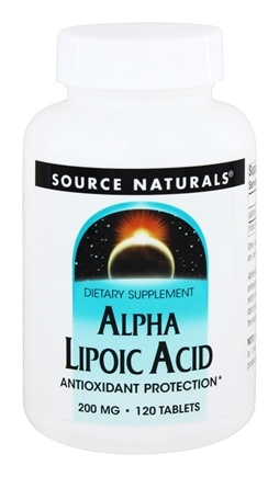 Source Naturals - Alpha Lipoic Acid 200 mg. - 120 Tablets