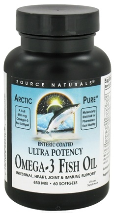 DROPPED: Source Naturals - ArcticPure Omega-3 Fish Oil 850 mg. - 60 Enteric Coated Softgels CLEARANCE PRICED