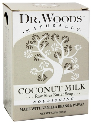 Dr. Woods - 100% Natural Raw Shea Butter Bar Soap Coconut Milk - 5.25 oz.