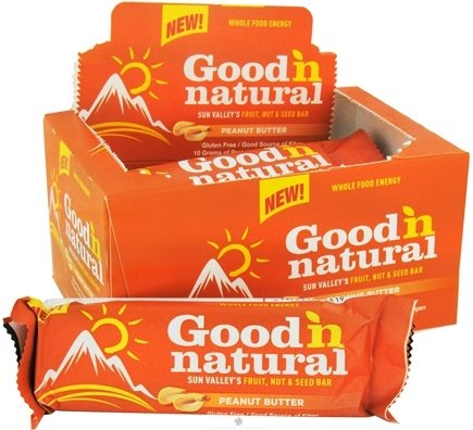 DROPPED: Good 'N Natural - Fruit, Nut & Seed Bar Peanut Butter - 6 x 2 oz. Bars