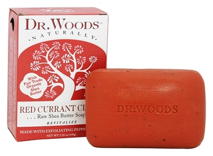 DROPPED: Dr. Woods - 100% Natural Raw Shea Butter Bar Soap Red Currant Clove - 5.25 oz.