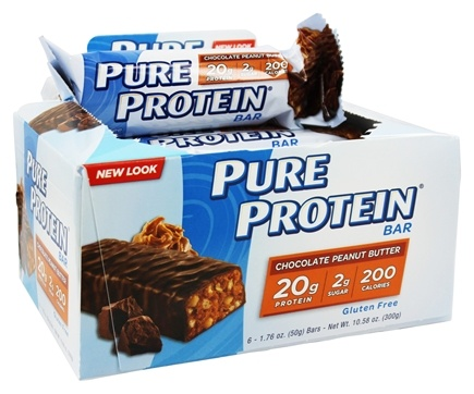 Pure Protein - High Protein Bar Chocolate Peanut Butter - 6 x 1.76 oz. Bars