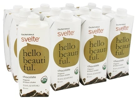 DROPPED: CalNaturale - Svelte Vegan Organic Protein Drink 12 x 15.9 oz RTD Chocolate - 12 Pack