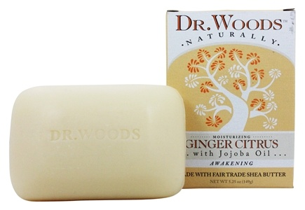 Dr. Woods - 100% Natural Castile Bar Soap Ginger Citrus - 5.25 oz.