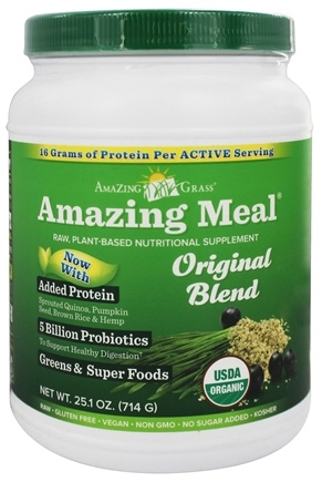 DROPPED: Amazing Grass - Amazing Meal Powder 30 Servings Original Blend - 23.6 oz.