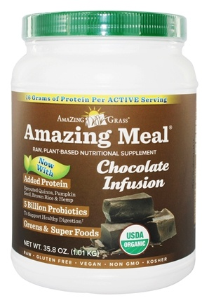 Amazing Grass - Amazing Meal Powder 30 Servings Chocolate Infusion - 34.2 oz. LUCKY PRICE