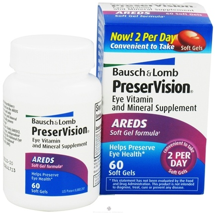 DROPPED: Bausch & Lomb - PreserVision AREDS Formula - 60 Softgels CLEARANCE PRICED