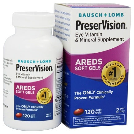 Bausch & Lomb - PreserVision AREDS Formula - 120 Softgels