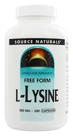 Source Naturals - L-Lysine Free Form 500 mg. - 200 Capsules