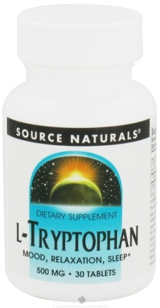 DROPPED: Source Naturals - L-Tryptophan 500 mg. - 30 Tablets