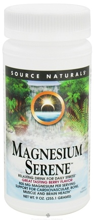 DROPPED: Source Naturals - Magnesium Serene Berry 800 mg. - 9 oz.