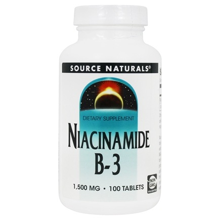 Source Naturals - Niacinamide Timed Release B-3 1500 mg. - 100 Tablets