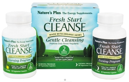 DROPPED: Nature's Plus - Fresh Start Cleanse Morning and Evening System - 2 Week Program CLEARANCE PRICED