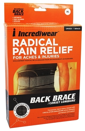 DROPPED: Incrediwear - Radical Pain Relief Back Brace Unisex X-Large 34-37 Inches
