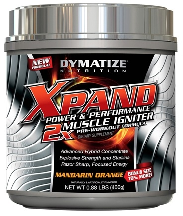 DROPPED: Dymatize Nutrition - Xpand 2x Muscle Igniter Pre-Workout Formula Bonus Size 10% More Mandarin Orange - 0.88 lbs. CLEARANCE PRICED