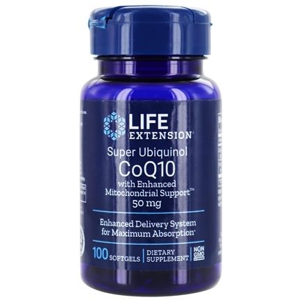 Life Extension - Super Ubiquinol CoQ10 with Enhanced Mitochondrial Support 50 mg. - 100 Softgels