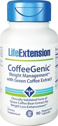 DROPPED: Life Extension - CoffeeGenic Green Coffee Extract with Glucose Control Complex - 90 Vegetarian Capsules