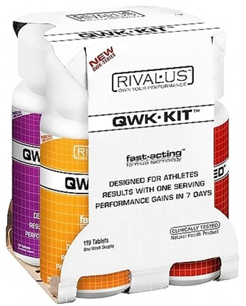 DROPPED: Rivalus - QWK Kit Fast-Acting Formula Technology - 4-Week Supply - 119 Tablets CLEARANCE PRICED