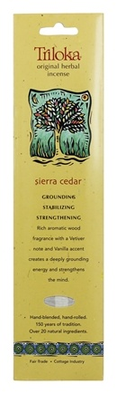 Triloka - Original Herbal Incense Sierra Cedar - 10 Stick(s)