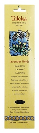 Triloka - Original Herbal Incense Lavender Fields - 10 Stick(s)