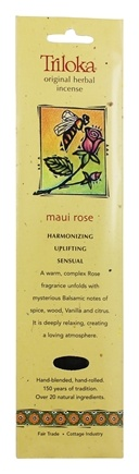 Triloka - Original Herbal Incense Maui Rose - 10 Stick(s)