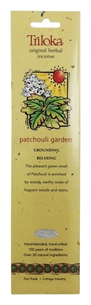 Triloka - Original Herbal Incense Patchouli Garden - 10 Stick(s)
