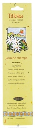 DROPPED: Triloka - Original Herbal Incense Jasmine Champa - 10 Stick(s) CLEARANCE PRICED