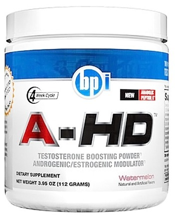 DROPPED: BPI Sports - A-HD Stimulant Based Testosterone Powder Watermelon - 112 Grams