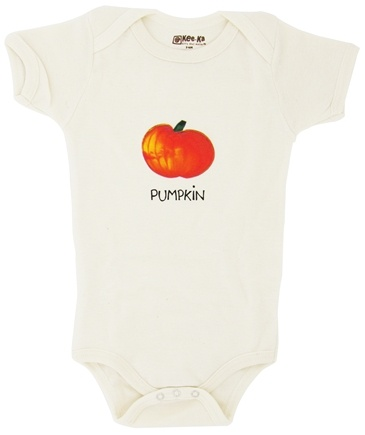 DROPPED: Kee-Ka - 100% Organic Cotton Short Sleeve BodySuit With Wearable Greetings Gift Box Pumpkin 3-6 Months - CLEARANCE PRICED