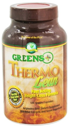 DROPPED: Greens Plus - Thermo Lean with Green Coffee Bean - 120 Vegetarian Capsules