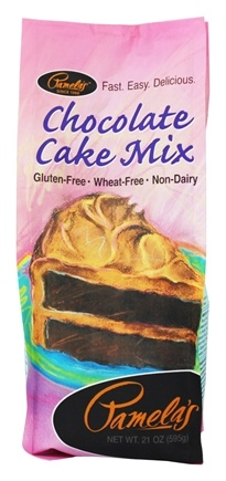 Pamela's Products - All Natural Cake Mix Gluten Free Chocolate - 21 oz.