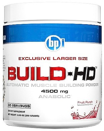 DROPPED: BPI Sports - Build-HD Automatic Muscle Building Powder Fruit Punch - 60 Servings 4500 g. - 12.69 oz.