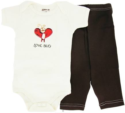 DROPPED: Kee-Ka - 100% Organic Cotton Baby Gift Set Short Sleeve BodySuit + Leggings Love Bug 6-12 Months - CLEARANCE PRICED