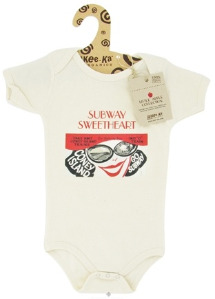 Kee-Ka - Little Apple Collection 100% Organic Short Sleeve Bodysuit Subway Sweetheart 6-12 Months - CLEARANCE PRICED