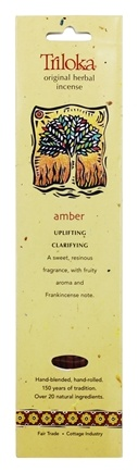 Triloka - Original Herbal Incense Amber - 10 Stick(s)