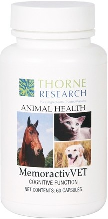 DROPPED: Thorne Research - Animal Health MemoractivVet - 60 Capsules