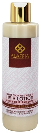 Alaffia - Hair Lotion Enriching Shea & Virgin Coconut Orange Geranium - 8 oz.