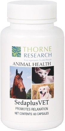 DROPPED: Thorne Research - Animal Health SedaplusVET - 60 Capsules CLEARANCE PRICED