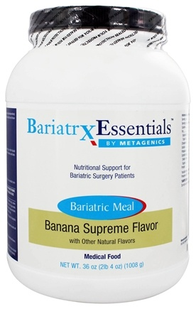 DROPPED: Metagenics - Bariatrx Essentials Bariatric Meal Medical Food Banana Supreme Flavor - 36 oz.