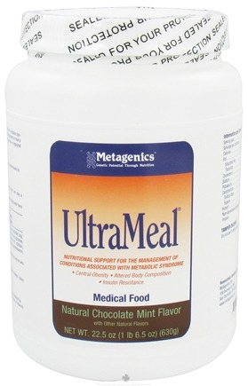 DROPPED: Metagenics - UltraMeal Medical Food Natural Chocolate Mint Flavor - 22.5 oz. CLEARANCE PRICED