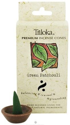 DROPPED: Triloka - Premium Incense Cones Green Patchouli - 14 Cone(s) CLEARANCE PRICED