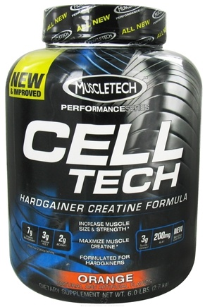 DROPPED: Muscletech Products - Cell Tech Performance Series Hardgainer Creatine Formula Orange - 6 lbs. CLEARANCE PRICED