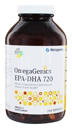 Metagenics - EPA-DHA 720 Lemon Flavored - 240 Softgels