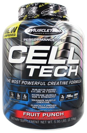 Muscletech Products - Cell Tech Performance Series Hardgainer Creatine Formula Fruit Punch - 6 lbs.