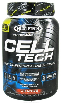 DROPPED: Muscletech Products - Cell Tech Performance Series Hardgainer Creatine Formula Orange - 3 lbs. CLEARANCE PRICED