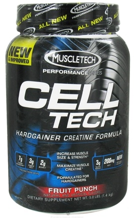 DROPPED: Muscletech Products - Cell Tech Performance Series Hardgainer Creatine Formula Fruit Punch - 3 lbs.